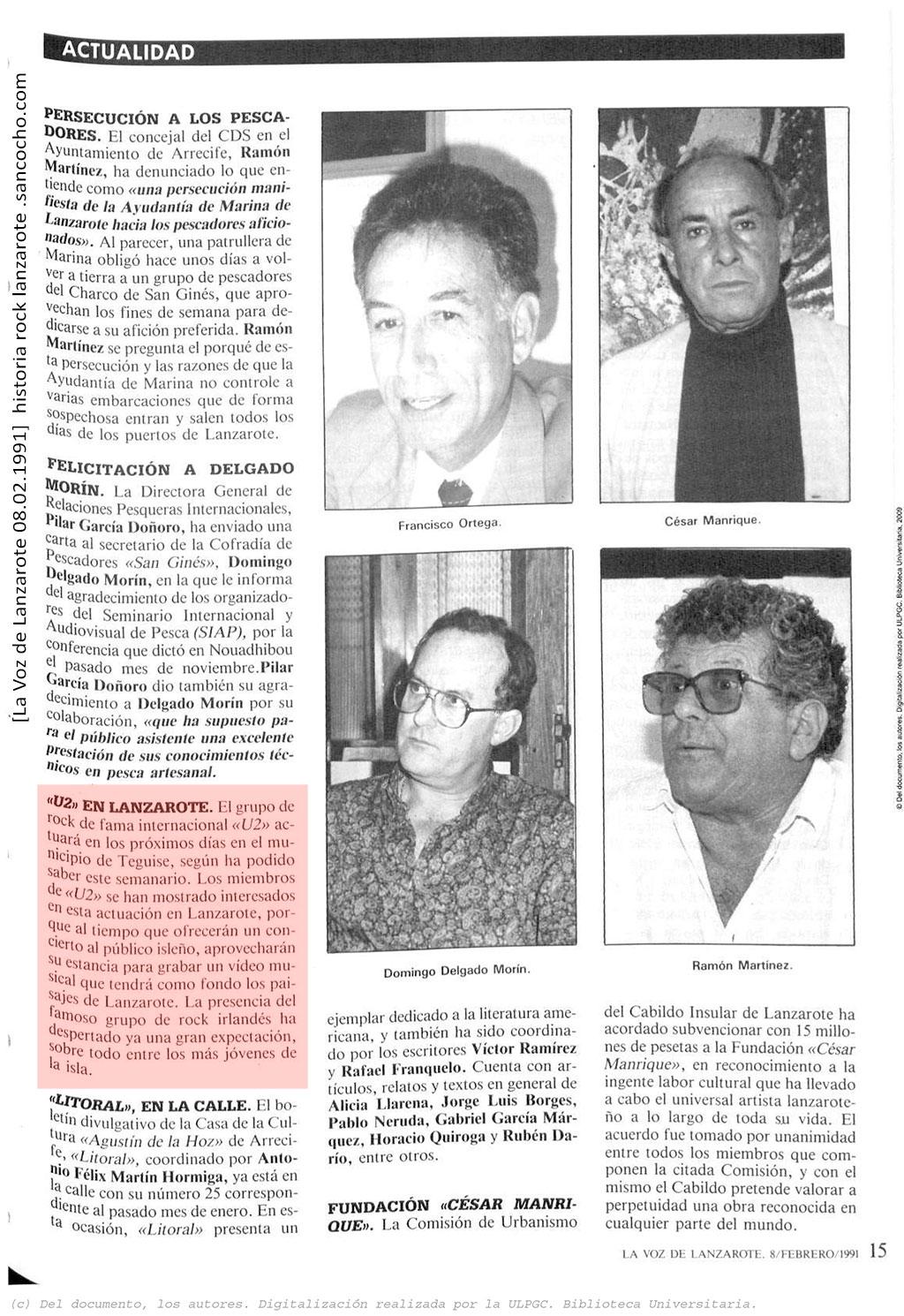 La Voz de Lanzarote 08.02.1991