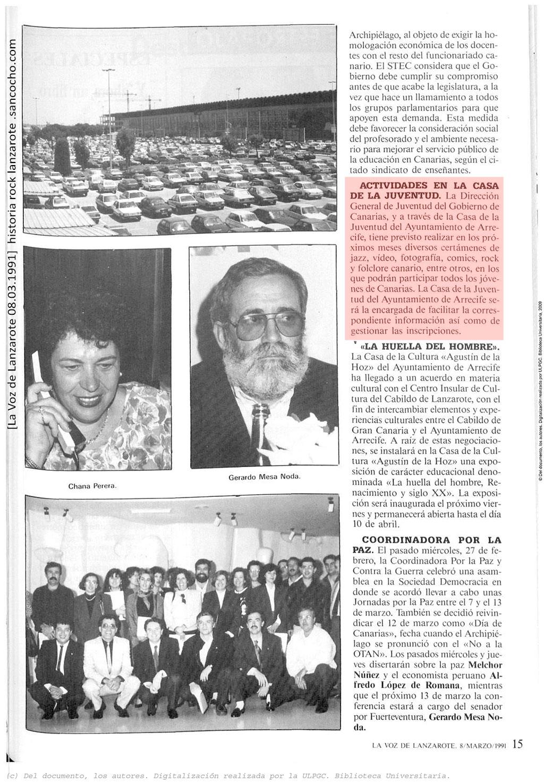 La Voz de Lanzarote 08.03.1991