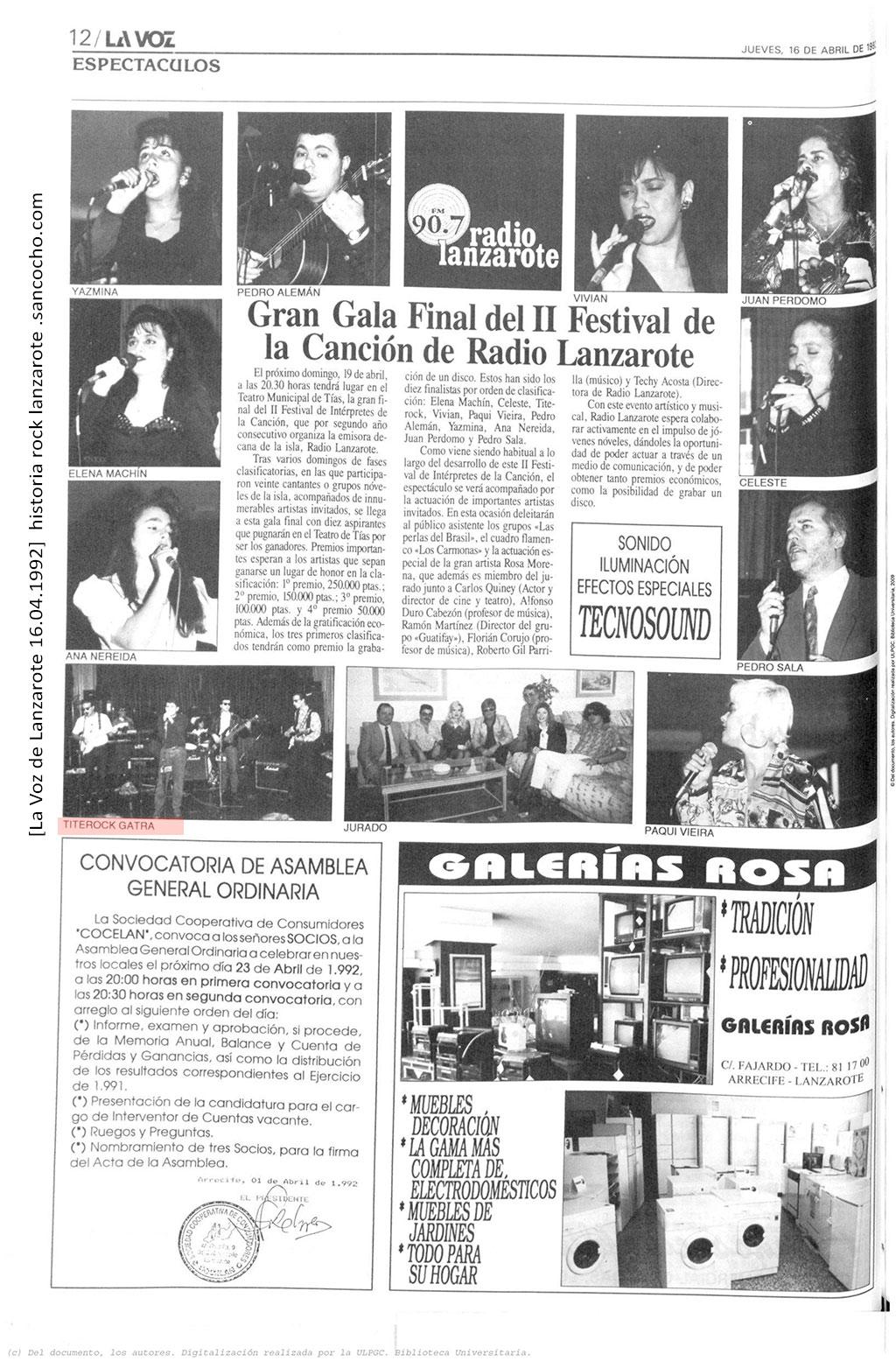 La-Voz-de-Lanzarote-16041992-Festival-de-la-cancion-Radio-Lanzarote